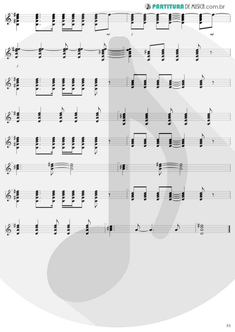 Partitura de musica de Guitarra Elétrica - In A Little While | U2 | All That You Can't Leave Behind 2000 - pag 3