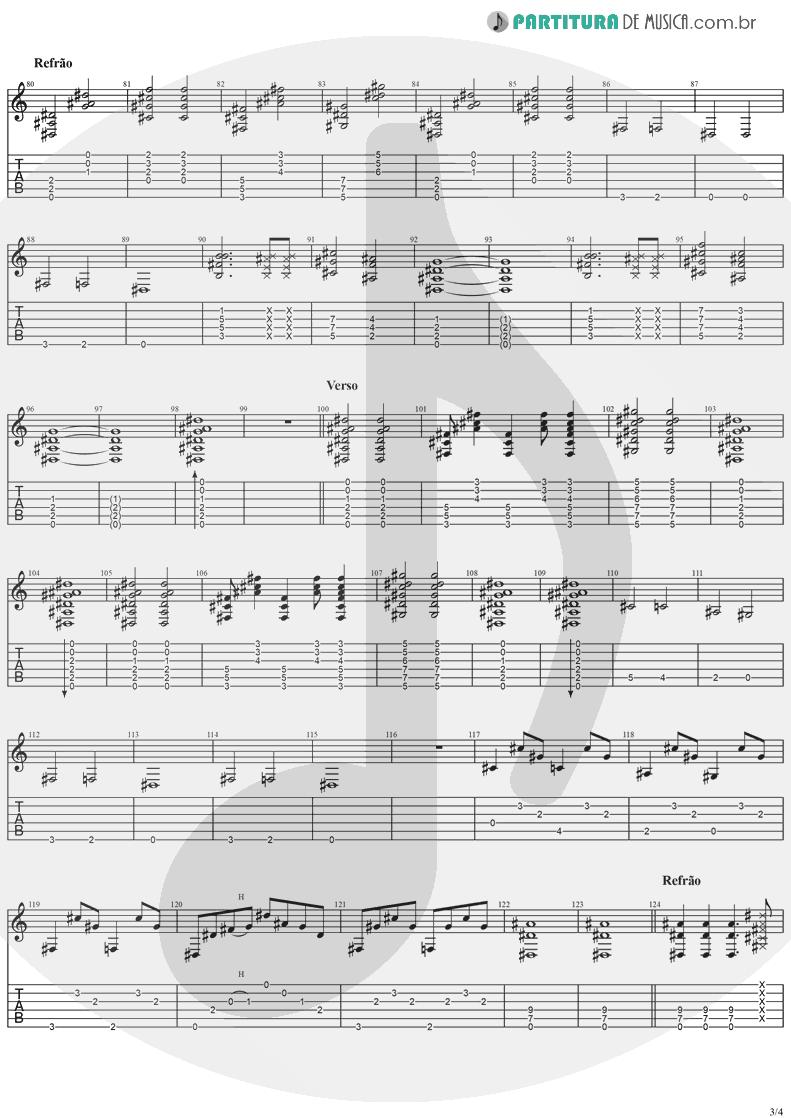 Tablatura + Partitura de musica de Guitarra Elétrica - Cat's In The Cradle | Ugly Kid Joe | America's Least Wanted 1992 - pag 3