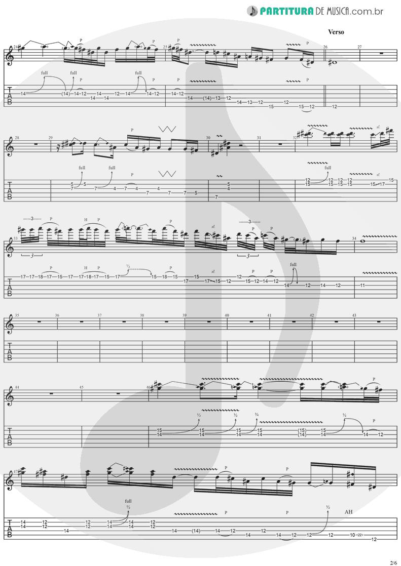 Tablatura + Partitura de musica de Guitarra Elétrica - Come Tomorrow | Ugly Kid Joe | America's Least Wanted 1992 - pag 2