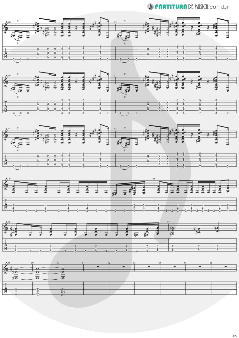 Tablatura + Partitura de musica de Guitarra Elétrica - Come Tomorrow | Ugly Kid Joe | America's Least Wanted 1992 - pag 3