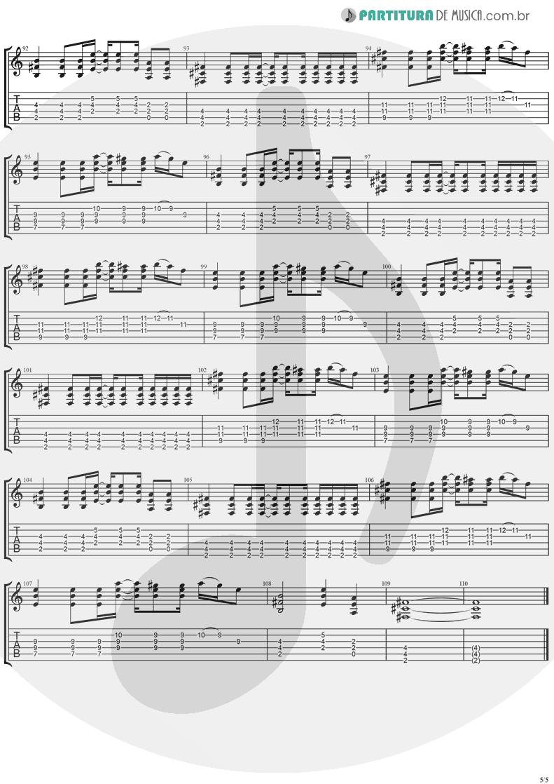 Tablatura + Partitura de musica de Guitarra Elétrica - Don't Go | Ugly Kid Joe | America's Least Wanted 1992 - pag 5