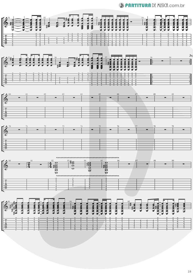 Tablatura + Partitura de musica de Violão - Don't Go | Ugly Kid Joe | America's Least Wanted 1992 - pag 2