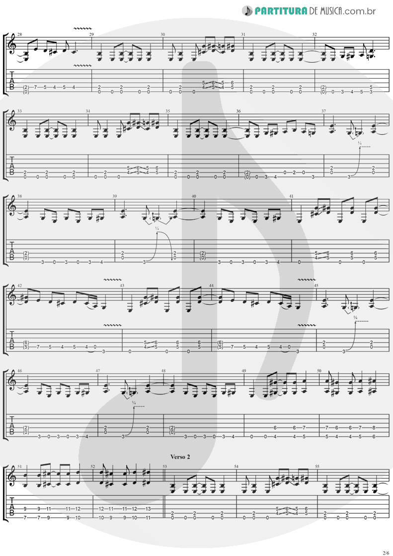 Tablatura + Partitura de musica de Guitarra Elétrica - I'll Keep Tryin' | Ugly Kid Joe | America's Least Wanted 1992 - pag 2
