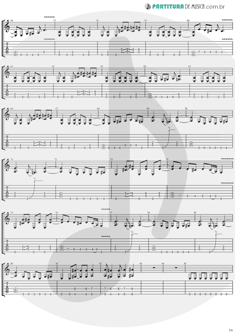 Tablatura + Partitura de musica de Guitarra Elétrica - I'll Keep Tryin'   Ugly Kid Joe   America's Least Wanted 1992 - pag 3