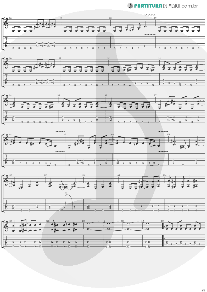 Tablatura + Partitura de musica de Guitarra Elétrica - I'll Keep Tryin' | Ugly Kid Joe | America's Least Wanted 1992 - pag 4