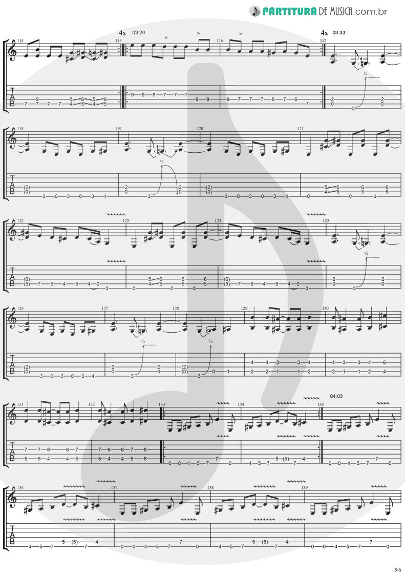 Tablatura + Partitura de musica de Guitarra Elétrica - I'll Keep Tryin'   Ugly Kid Joe   America's Least Wanted 1992 - pag 5
