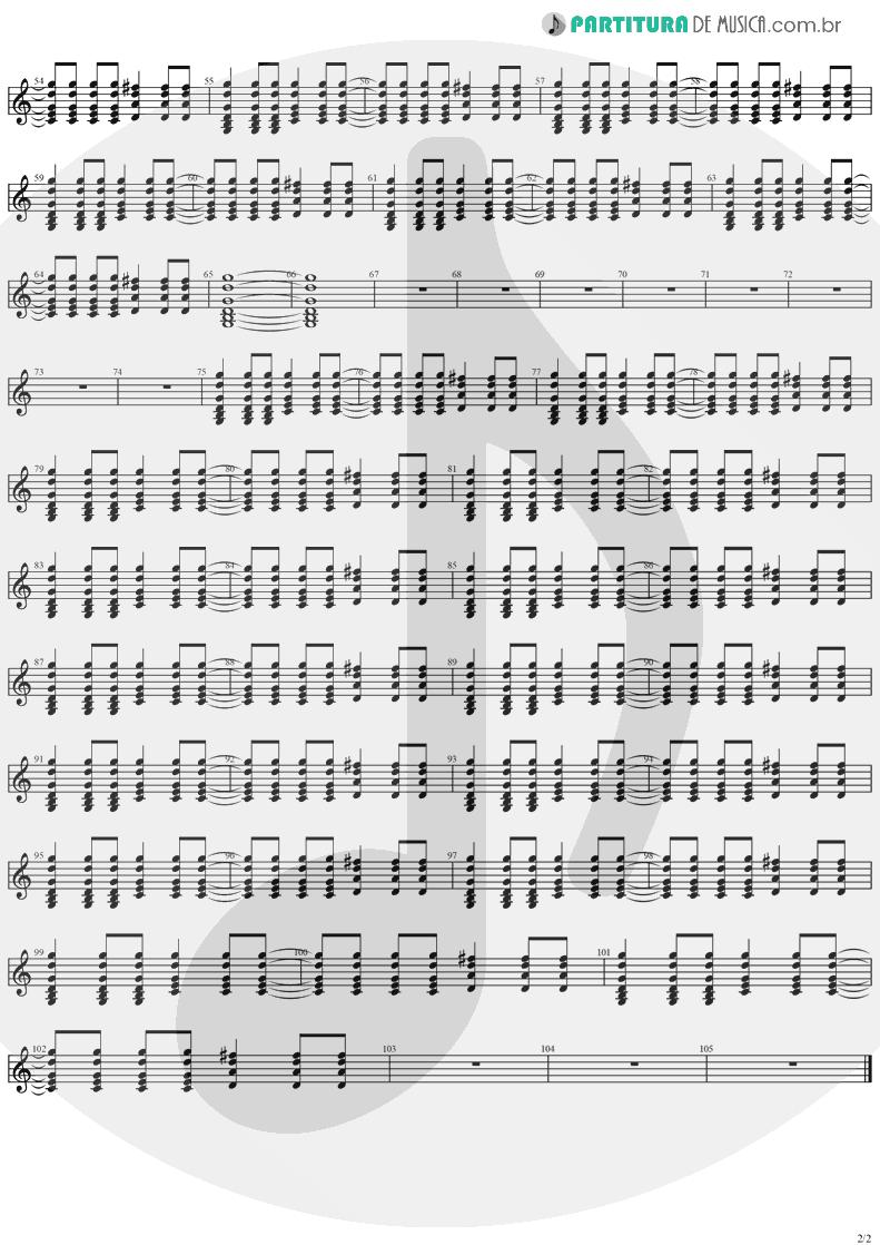 Partitura de musica de Violão - Mr. Recordman   Ugly Kid Joe   America's Least Wanted 1992 - pag 2