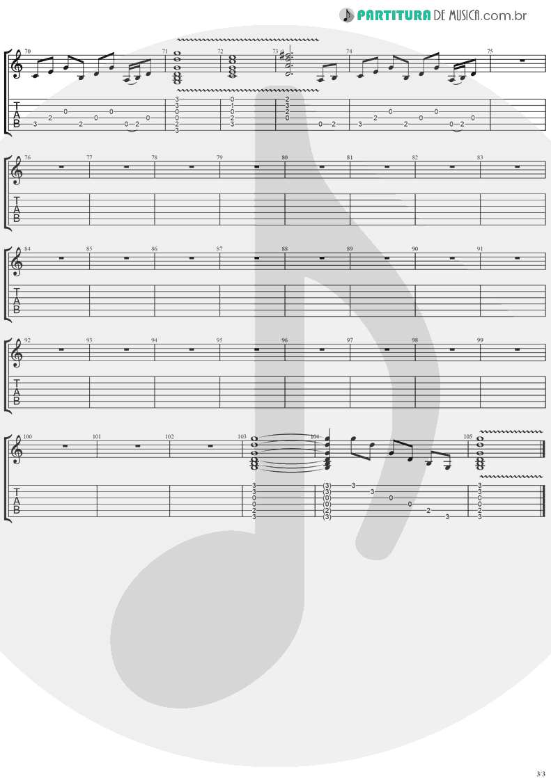 Tablatura + Partitura de musica de Violão - Mr. Recordman   Ugly Kid Joe   America's Least Wanted 1992 - pag 3