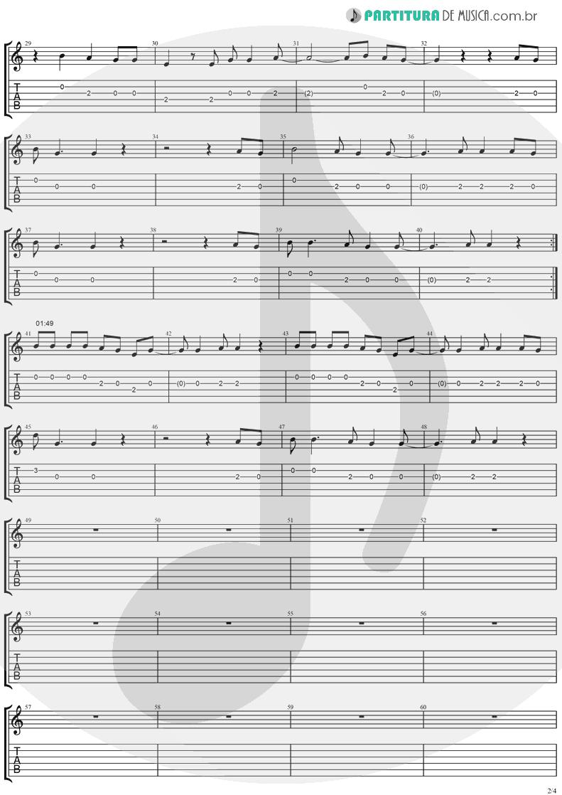 Tablatura + Partitura de musica de Violão - Mr. Recordman | Ugly Kid Joe | America's Least Wanted 1992 - pag 2