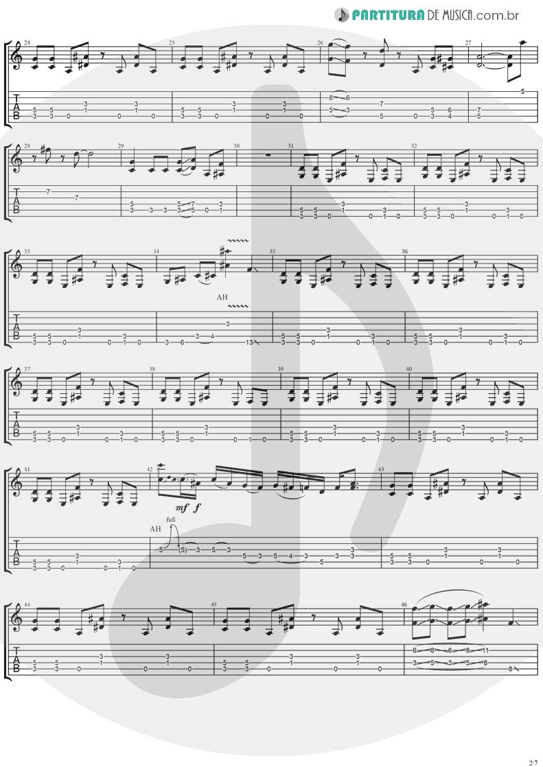 Tablatura + Partitura de musica de Guitarra Elétrica - Neighbor | Ugly Kid Joe | America's Least Wanted 1992 - pag 2