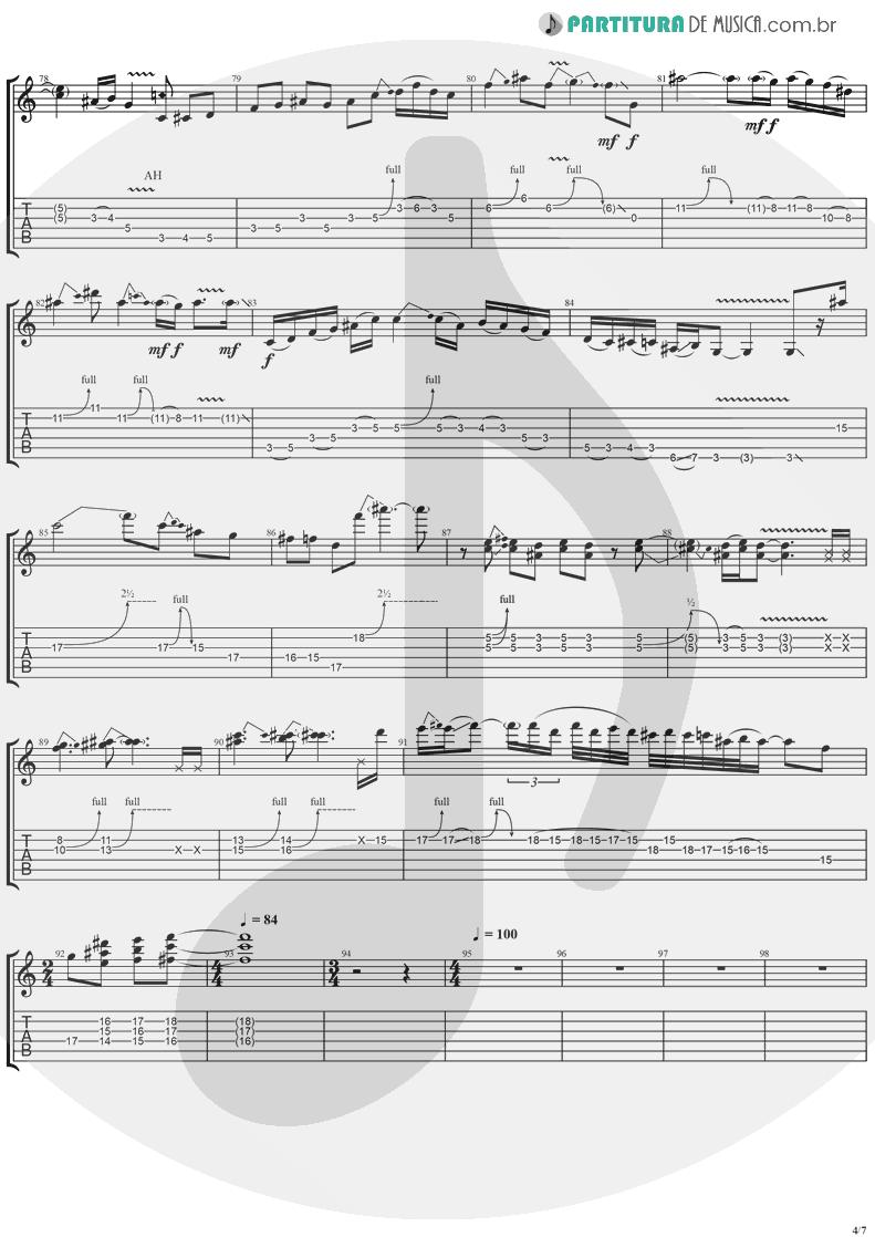 Tablatura + Partitura de musica de Guitarra Elétrica - Neighbor | Ugly Kid Joe | America's Least Wanted 1992 - pag 4