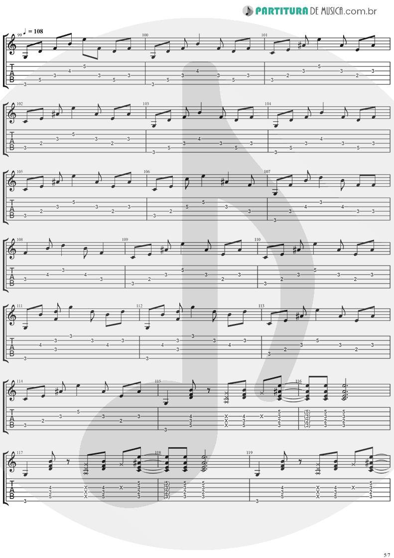 Tablatura + Partitura de musica de Guitarra Elétrica - Neighbor | Ugly Kid Joe | America's Least Wanted 1992 - pag 5
