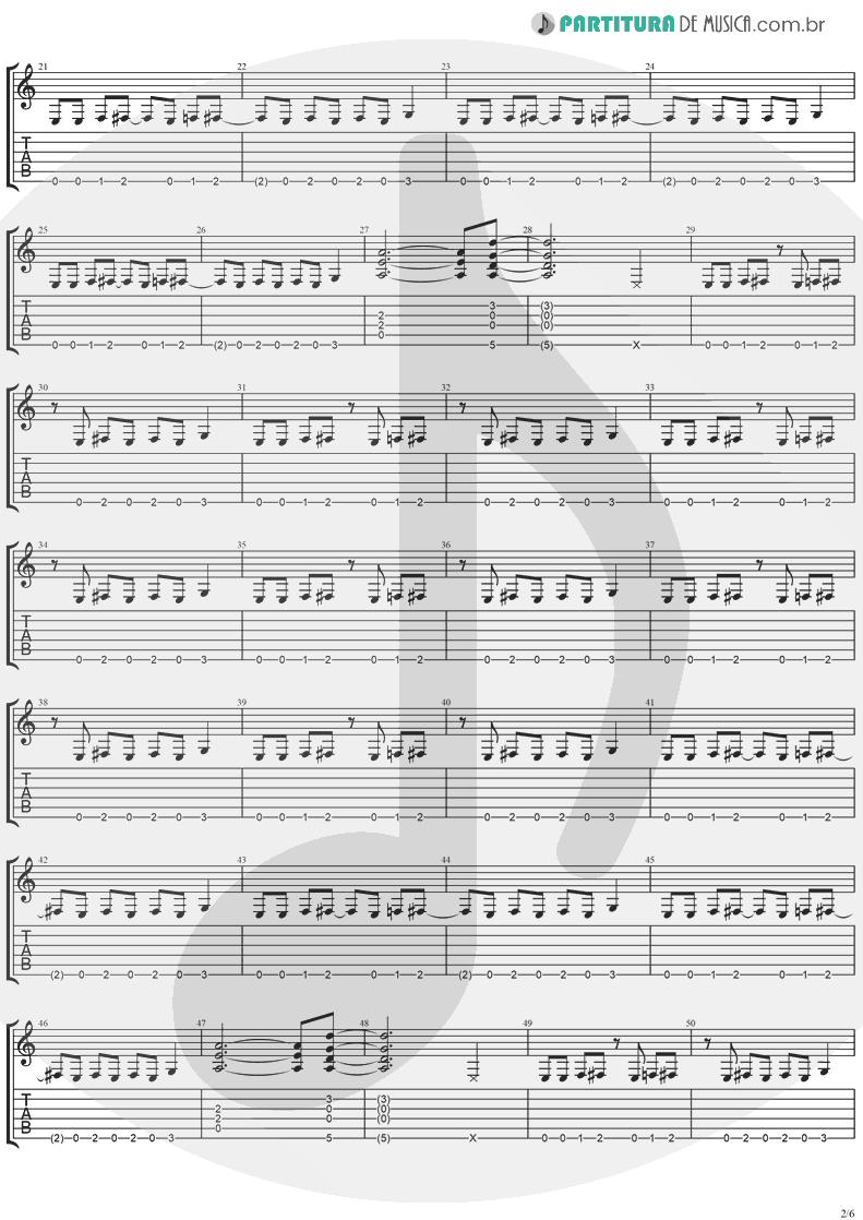 Tablatura + Partitura de musica de Guitarra Elétrica - So Damn Cool | Ugly Kid Joe | America's Least Wanted 1992 - pag 2