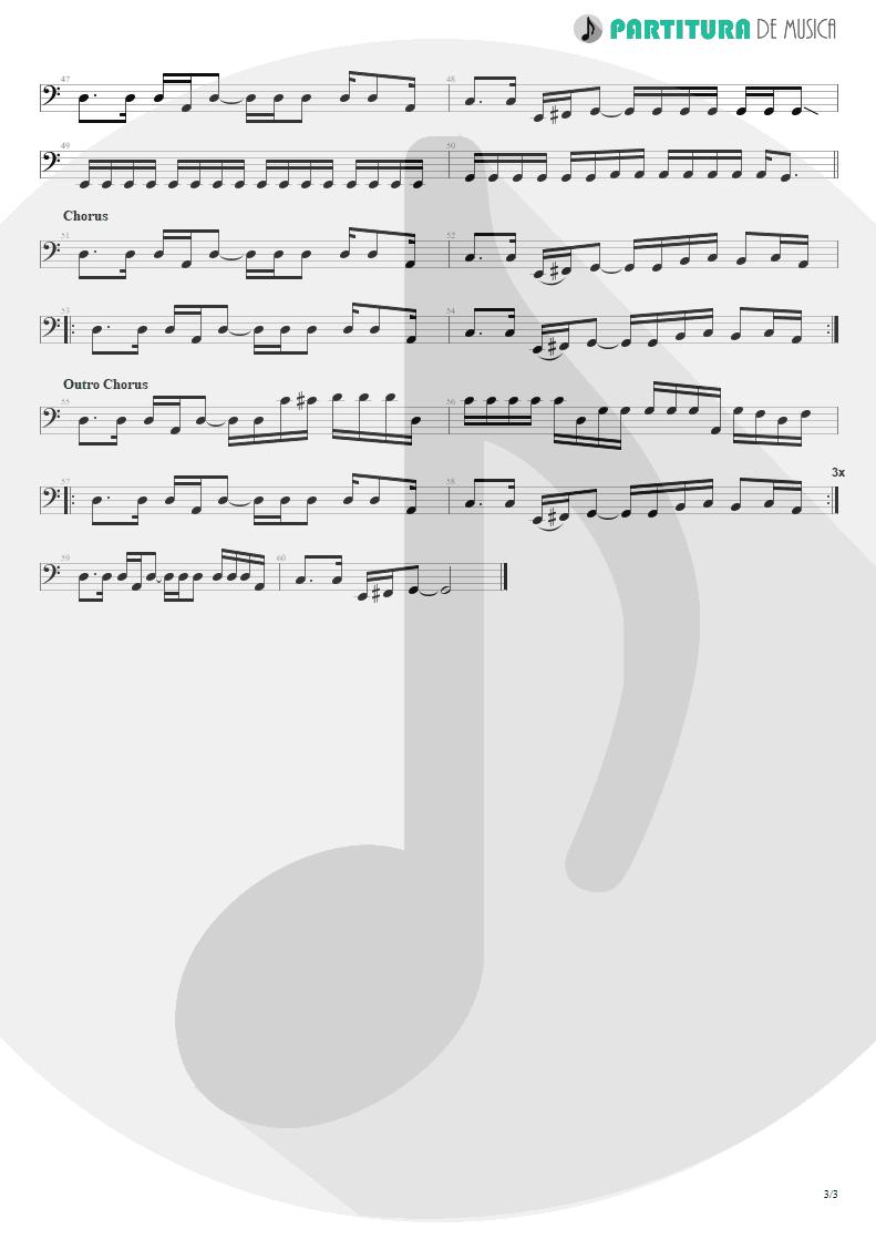 Partitura de musica de Baixo Elétrico - Fall To Pieces | Velvet Revolver | Contraband 2004 - pag 3