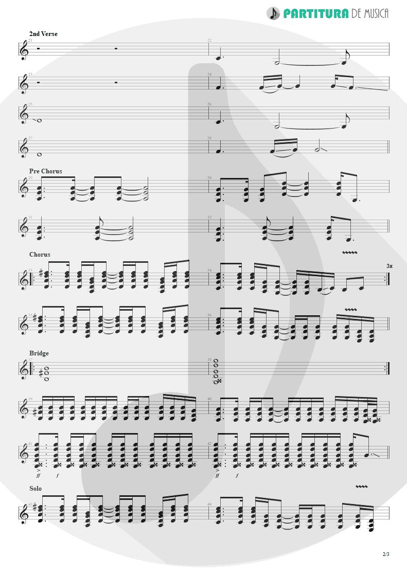 Partitura de musica de Guitarra Elétrica - Fall To Pieces | Velvet Revolver | Contraband 2004 - pag 2
