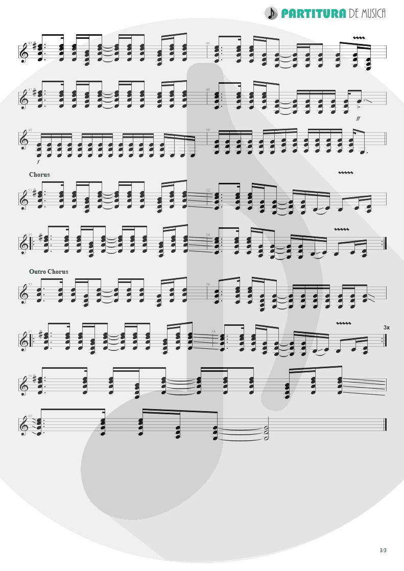 Partitura de musica de Guitarra Elétrica - Fall To Pieces | Velvet Revolver | Contraband 2004 - pag 3