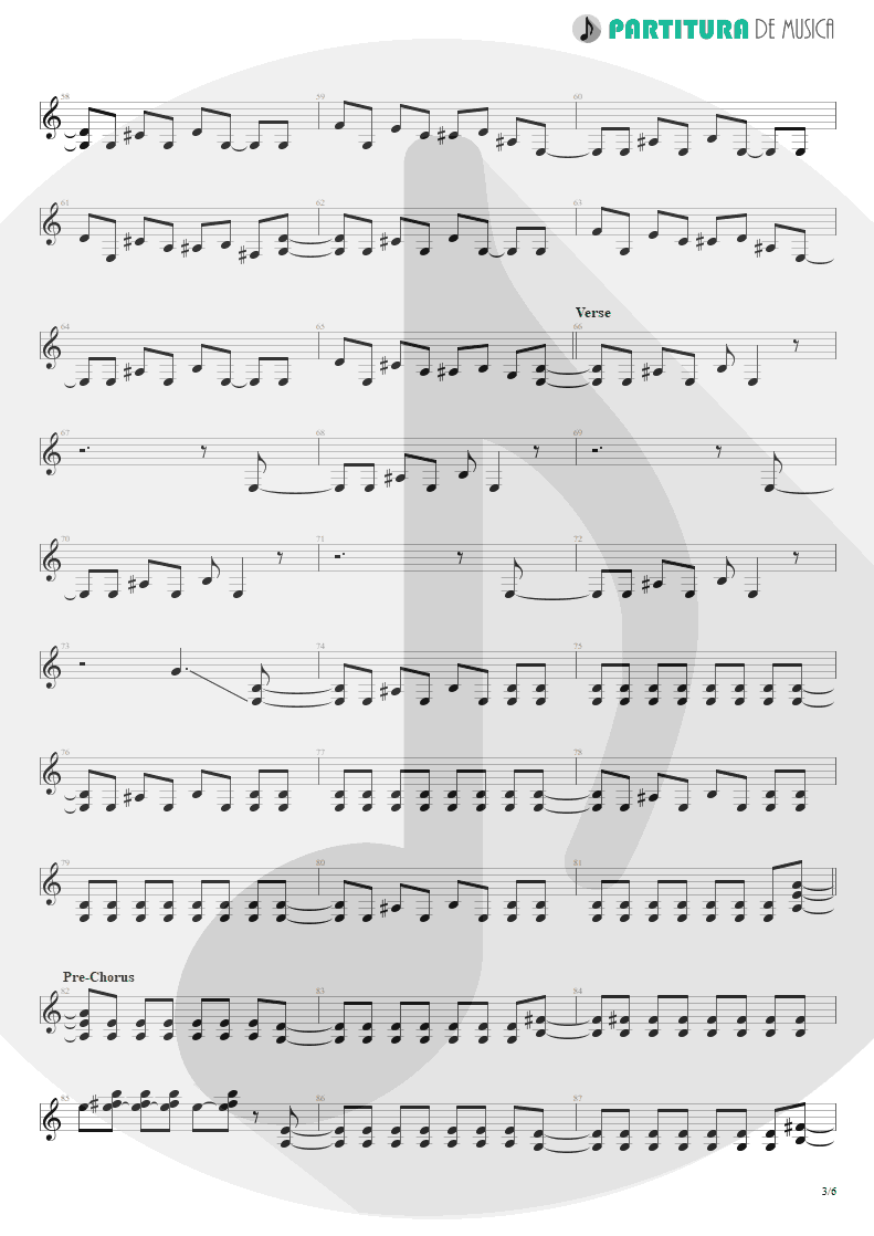 Partitura de musica de Guitarra Elétrica - Sucker Train Blues | Velvet Revolver | Contraband 2004 - pag 3