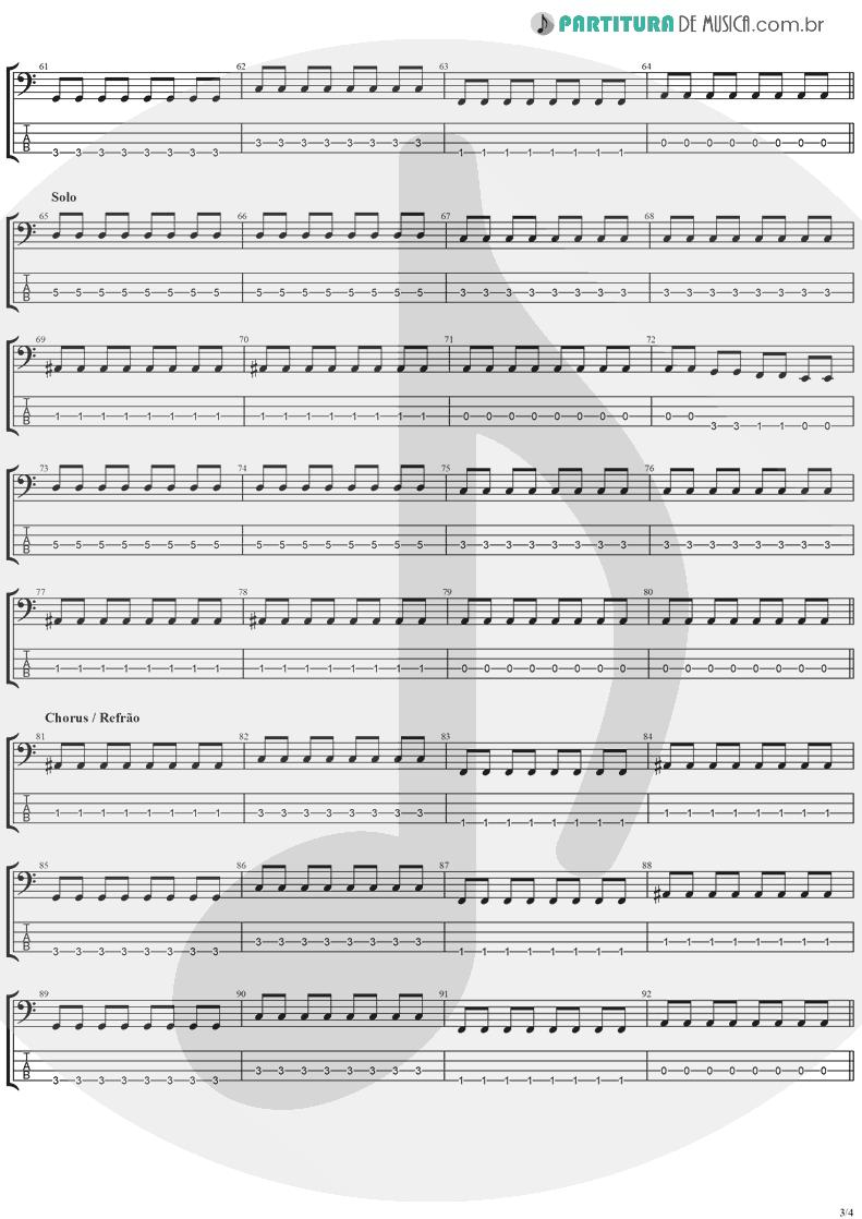 Tablatura + Partitura de musica de Baixo Elétrico - This Is Such A Pity   Weezer   Make Believe 2005 - pag 3
