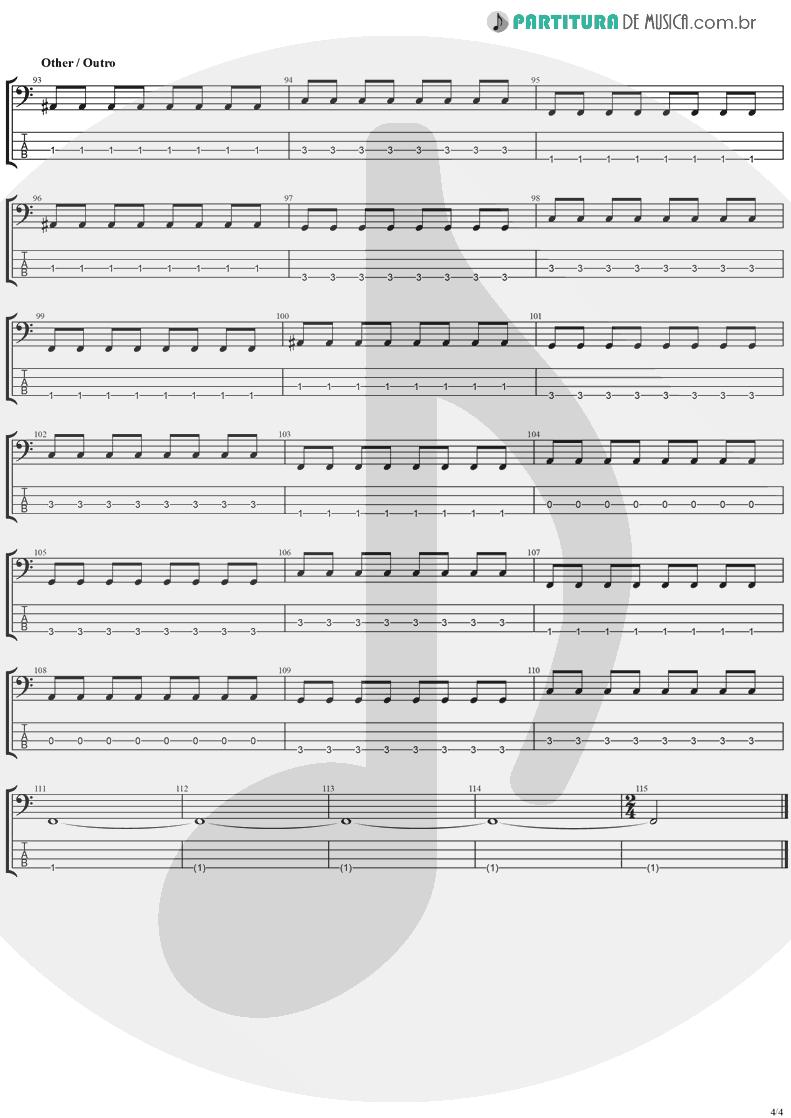Tablatura + Partitura de musica de Baixo Elétrico - This Is Such A Pity   Weezer   Make Believe 2005 - pag 4