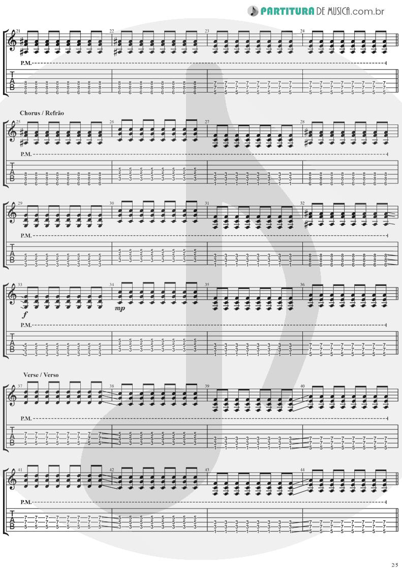 Tablatura + Partitura de musica de Guitarra Elétrica - This Is Such A Pity   Weezer   Make Believe 2005 - pag 2