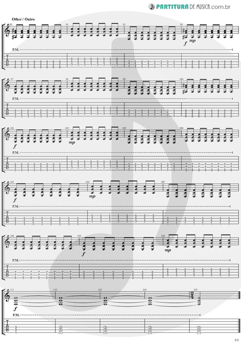 Tablatura + Partitura de musica de Guitarra Elétrica - This Is Such A Pity   Weezer   Make Believe 2005 - pag 5