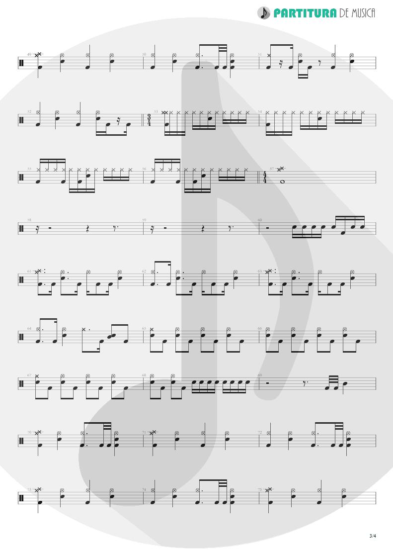 Partitura de musica de Bateria - Absolución | XXL | (12.0) Richter 2005 - pag 3