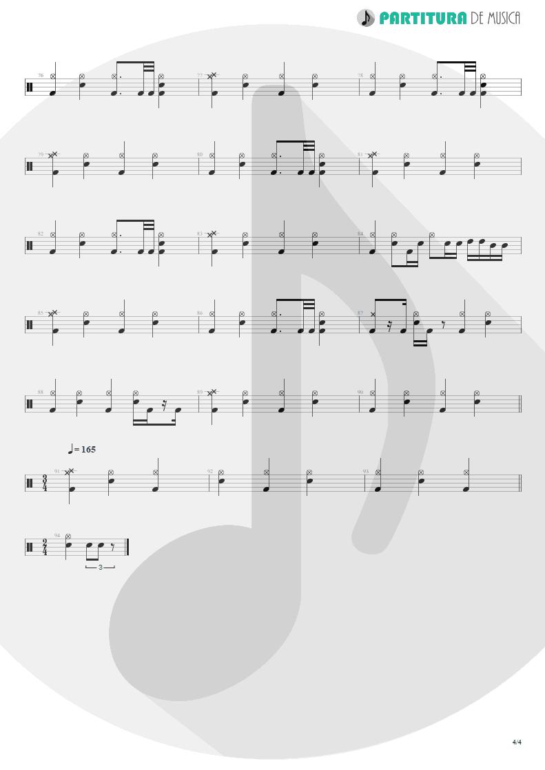 Partitura de musica de Bateria - Absolución | XXL | (12.0) Richter 2005 - pag 4