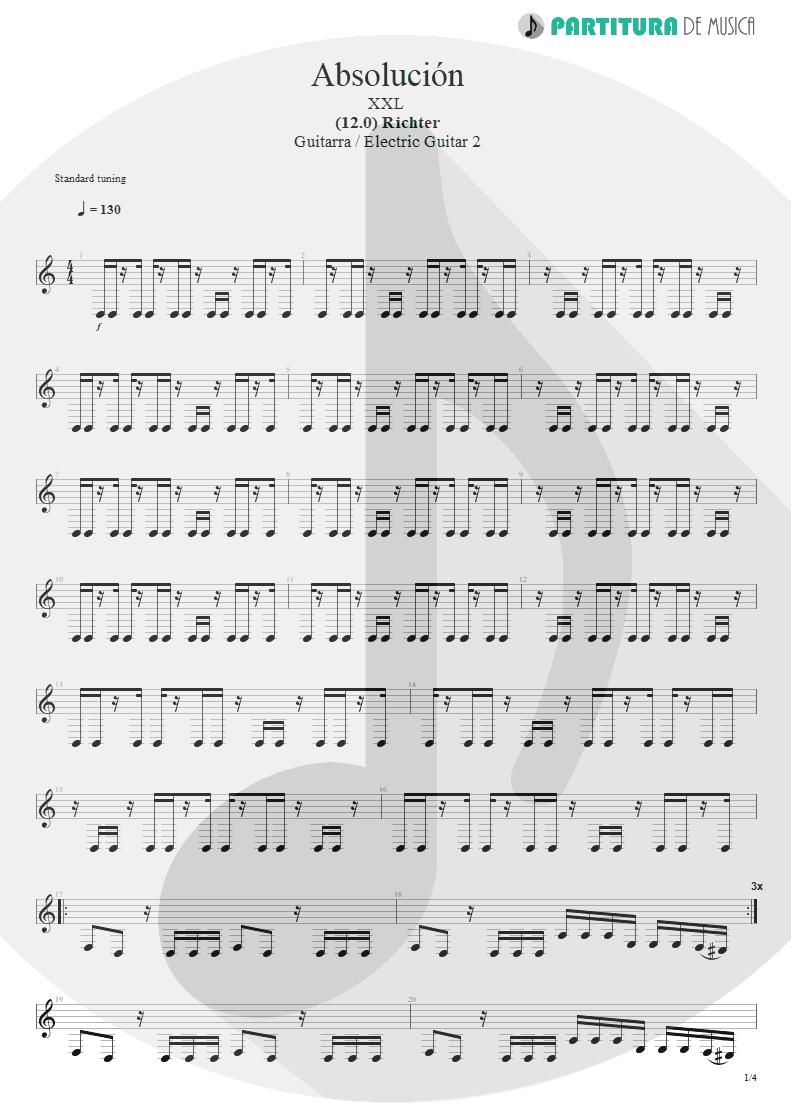 Partitura de musica de Guitarra Elétrica - Absolución | XXL | (12.0) Richter 2005 - pag 1