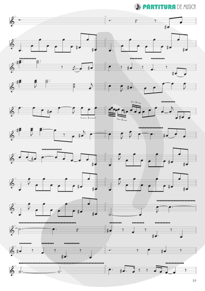 Partitura de musica de Guitarra Elétrica - Jesus Just Left Chicago | ZZ Top | Tres Hombres 1973 - pag 2