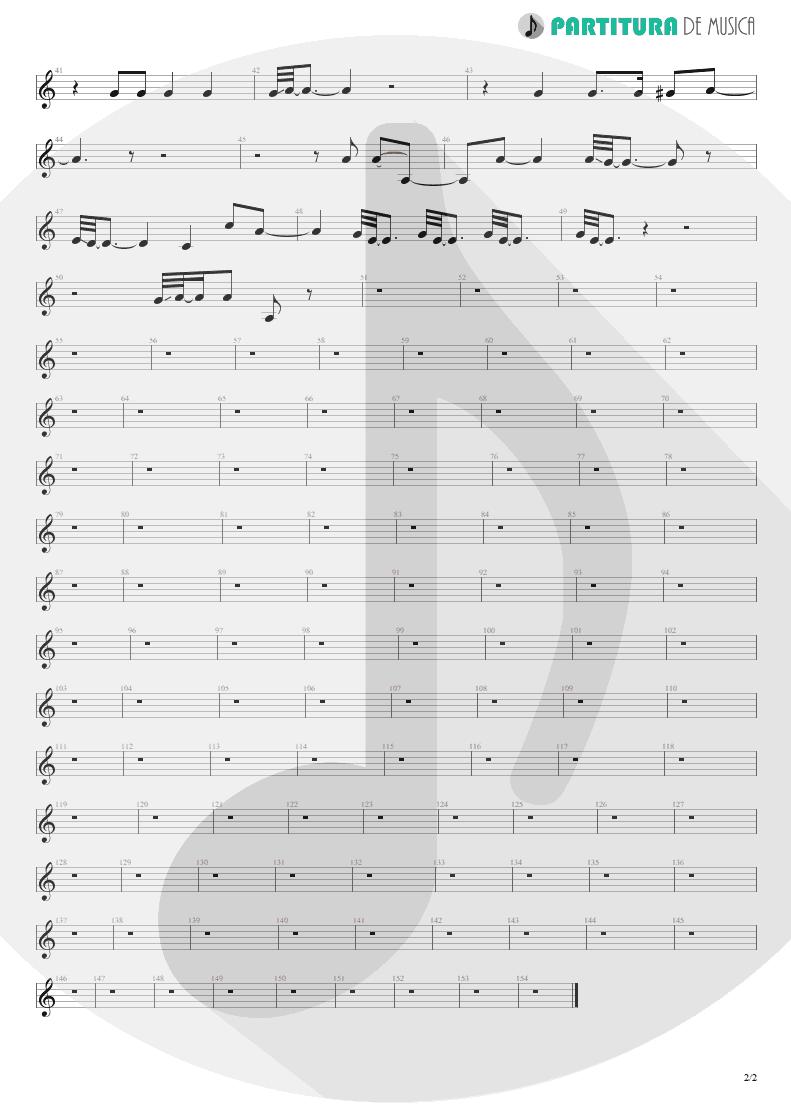 Partitura de musica de Canto - La Grange | ZZ Top | Tres Hombres 1973 - pag 2