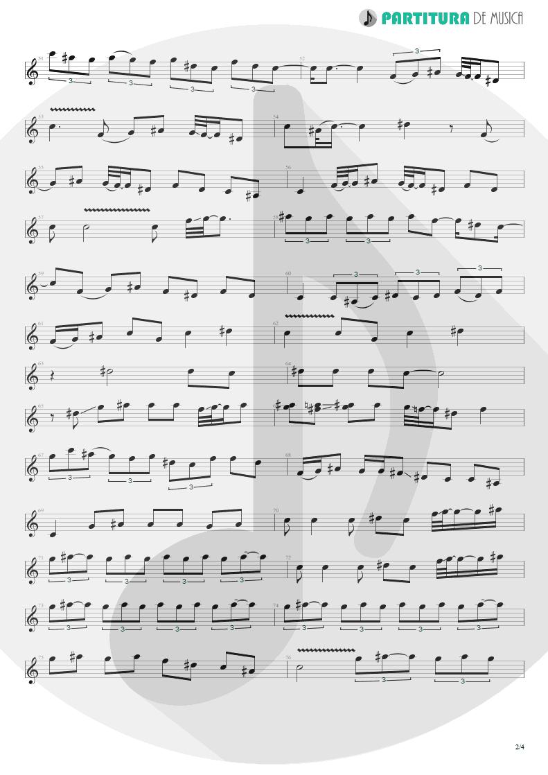 Partitura de musica de Guitarra Elétrica - La Grange   ZZ Top   Tres Hombres 1973 - pag 2