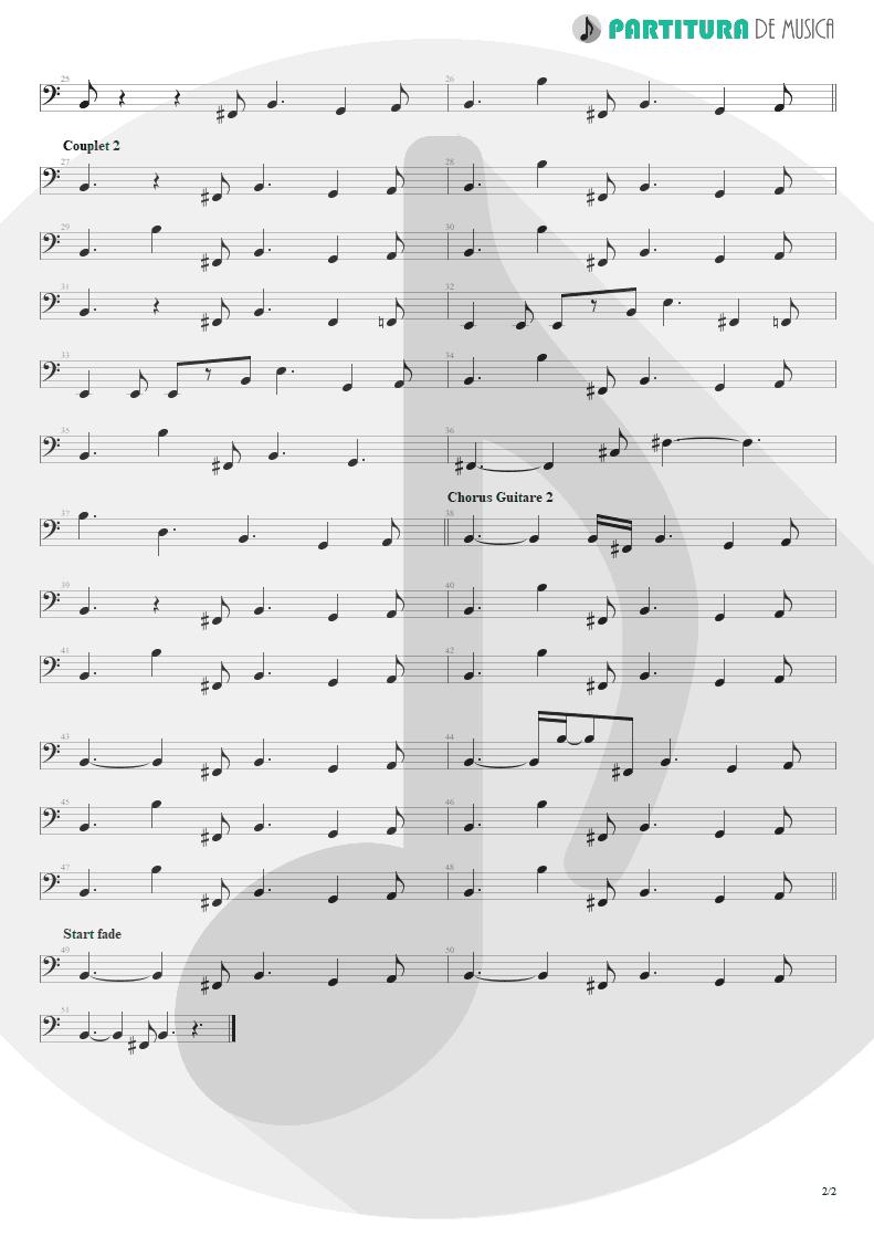Partitura de musica de Baixo Elétrico - Blue Jean Blues | ZZ Top | Fandango! 1975 - pag 2