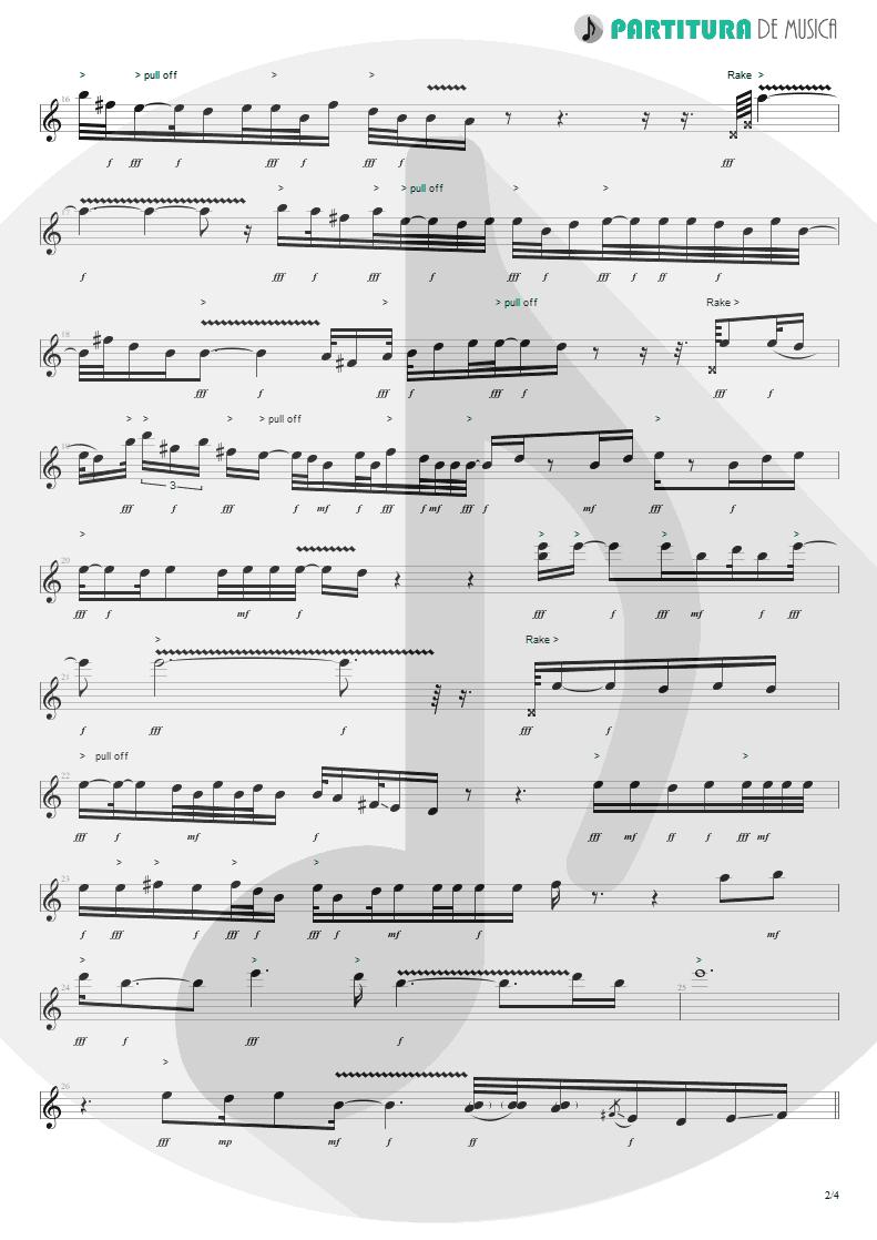 Partitura de musica de Guitarra Elétrica - Blue Jean Blues | ZZ Top | Fandango! 1975 - pag 2