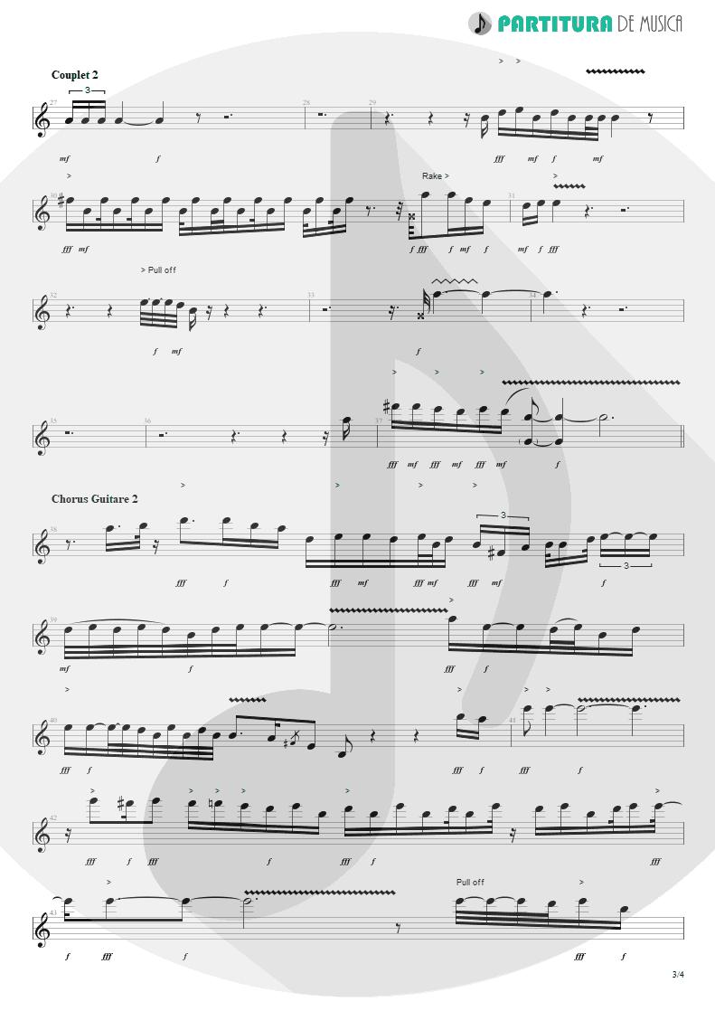 Partitura de musica de Guitarra Elétrica - Blue Jean Blues | ZZ Top | Fandango! 1975 - pag 3