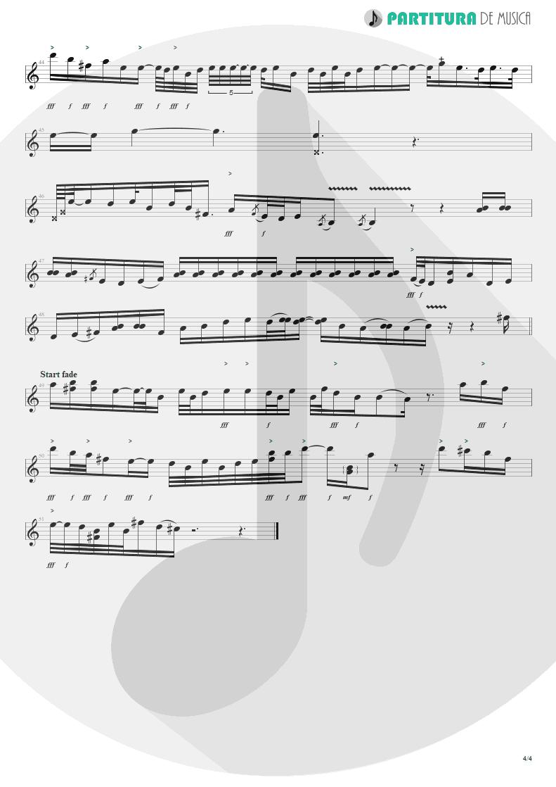 Partitura de musica de Guitarra Elétrica - Blue Jean Blues | ZZ Top | Fandango! 1975 - pag 4
