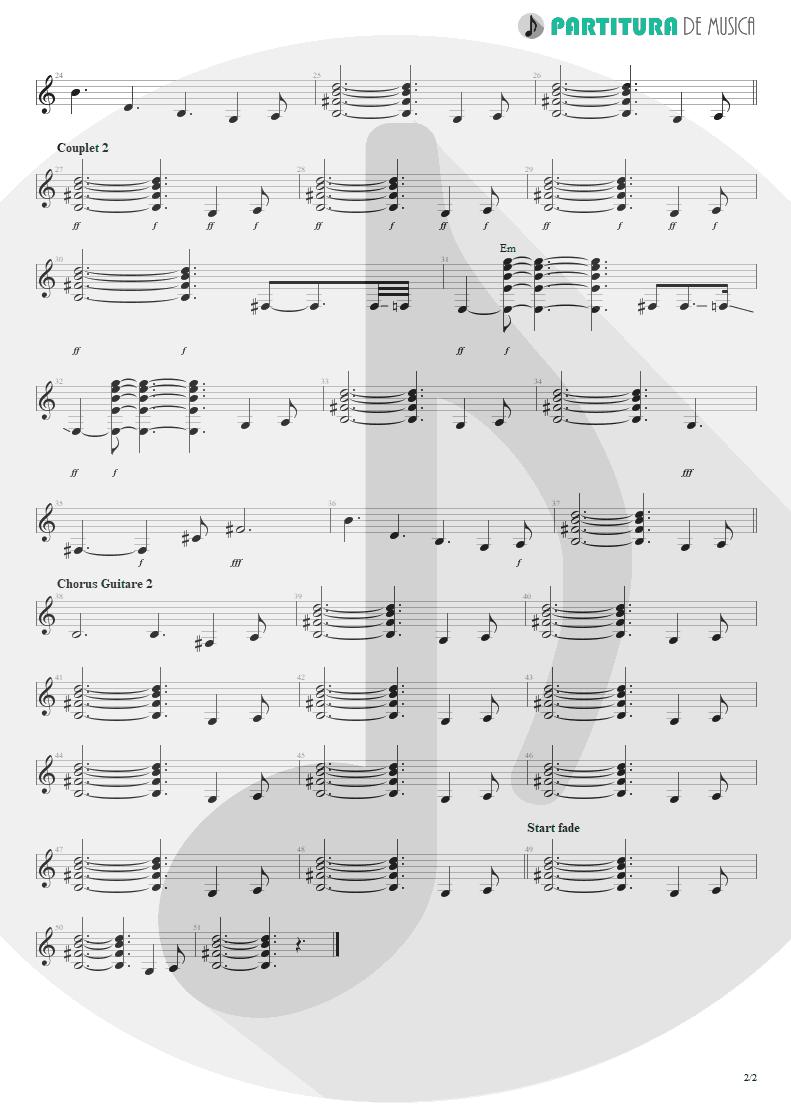 Partitura de musica de Violão - Blue Jean Blues | ZZ Top | Fandango! 1975 - pag 2