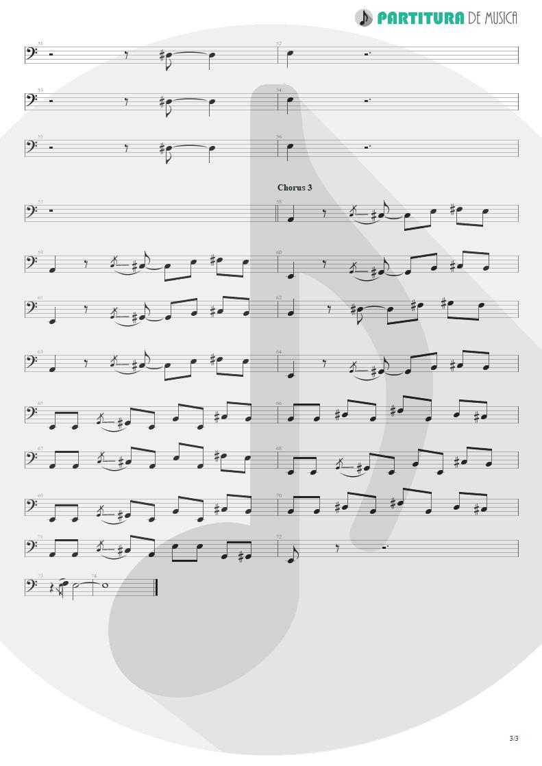 Partitura de musica de Baixo Elétrico - Jailhouse Rock | ZZ Top | Fandango! 1975 - pag 3
