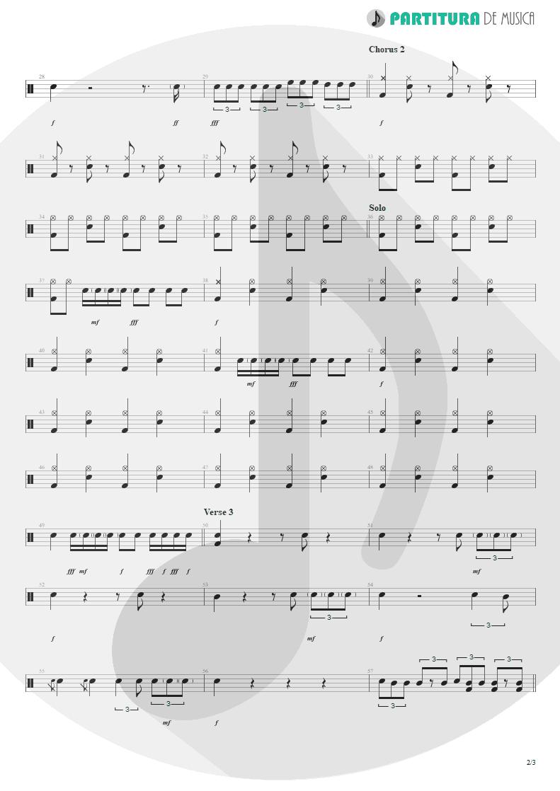 Partitura de musica de Bateria - Jailhouse Rock | ZZ Top | Fandango! 1975 - pag 2