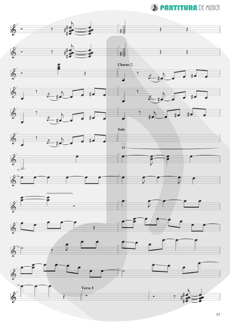 Partitura de musica de Guitarra Elétrica - Jailhouse Rock | ZZ Top | Fandango! 1975 - pag 2