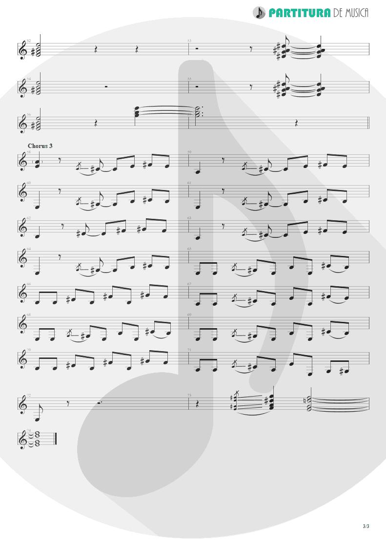 Partitura de musica de Guitarra Elétrica - Jailhouse Rock | ZZ Top | Fandango! 1975 - pag 3