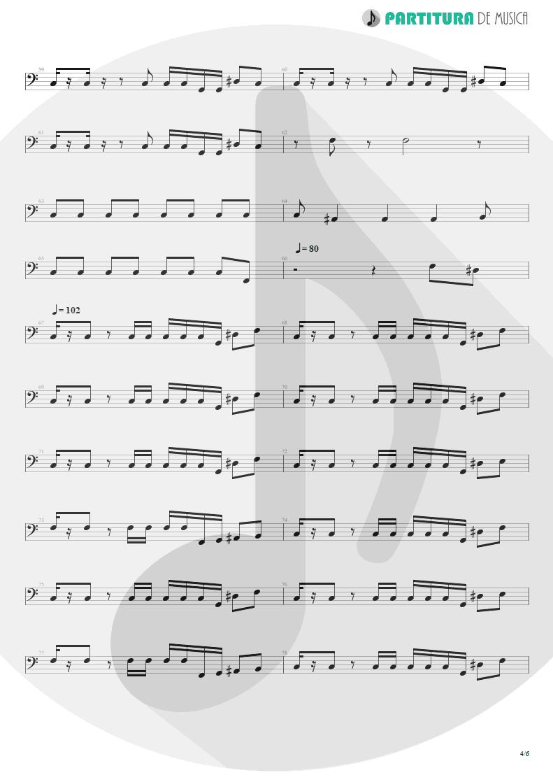 Partitura de musica de Baixo Elétrico - I'm Bad, I'm Nationwide | ZZ Top | Degüello 1979 - pag 4