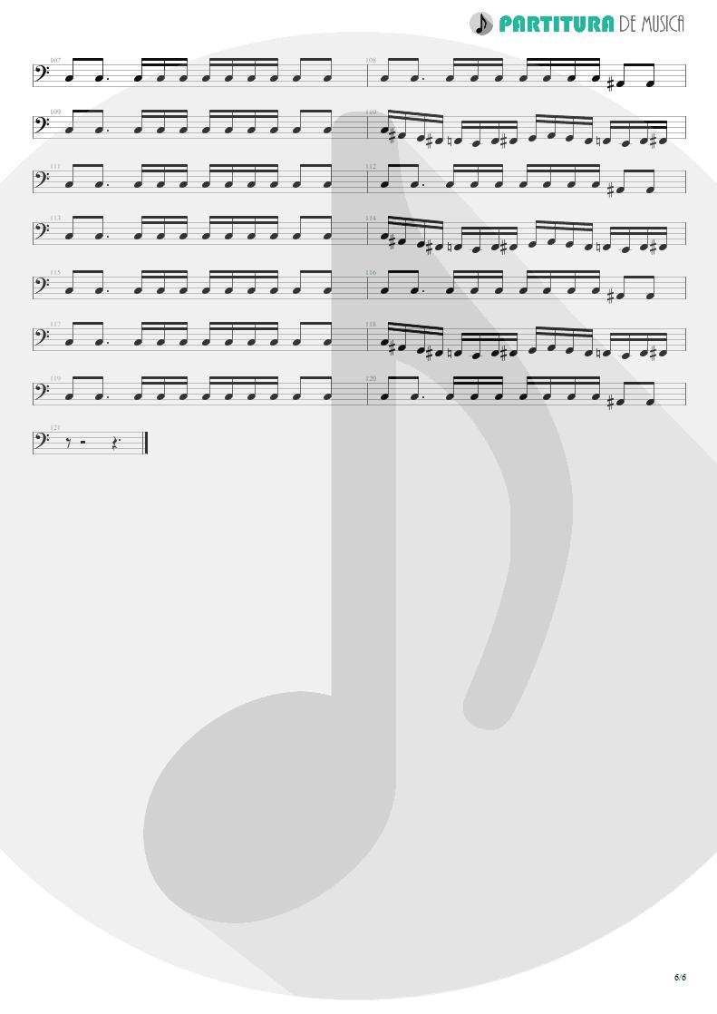 Partitura de musica de Baixo Elétrico - I'm Bad, I'm Nationwide | ZZ Top | Degüello 1979 - pag 6