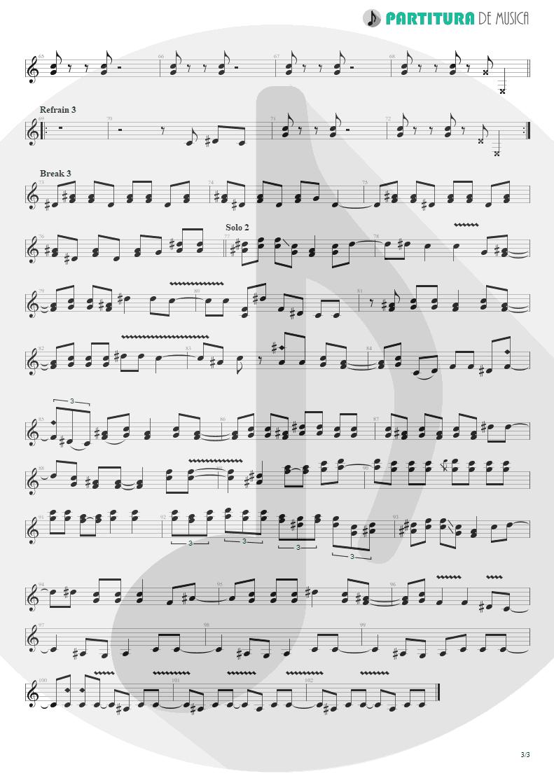 Partitura de musica de Guitarra Elétrica - Gimme All Your Lovin' | ZZ Top | Eliminator 1983 - pag 3