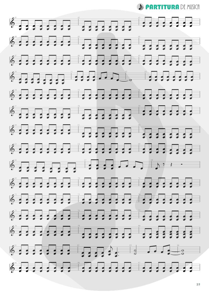 Partitura de musica de Guitarra Elétrica - I Need You Tonight | ZZ Top | Eliminator 1983 - pag 2