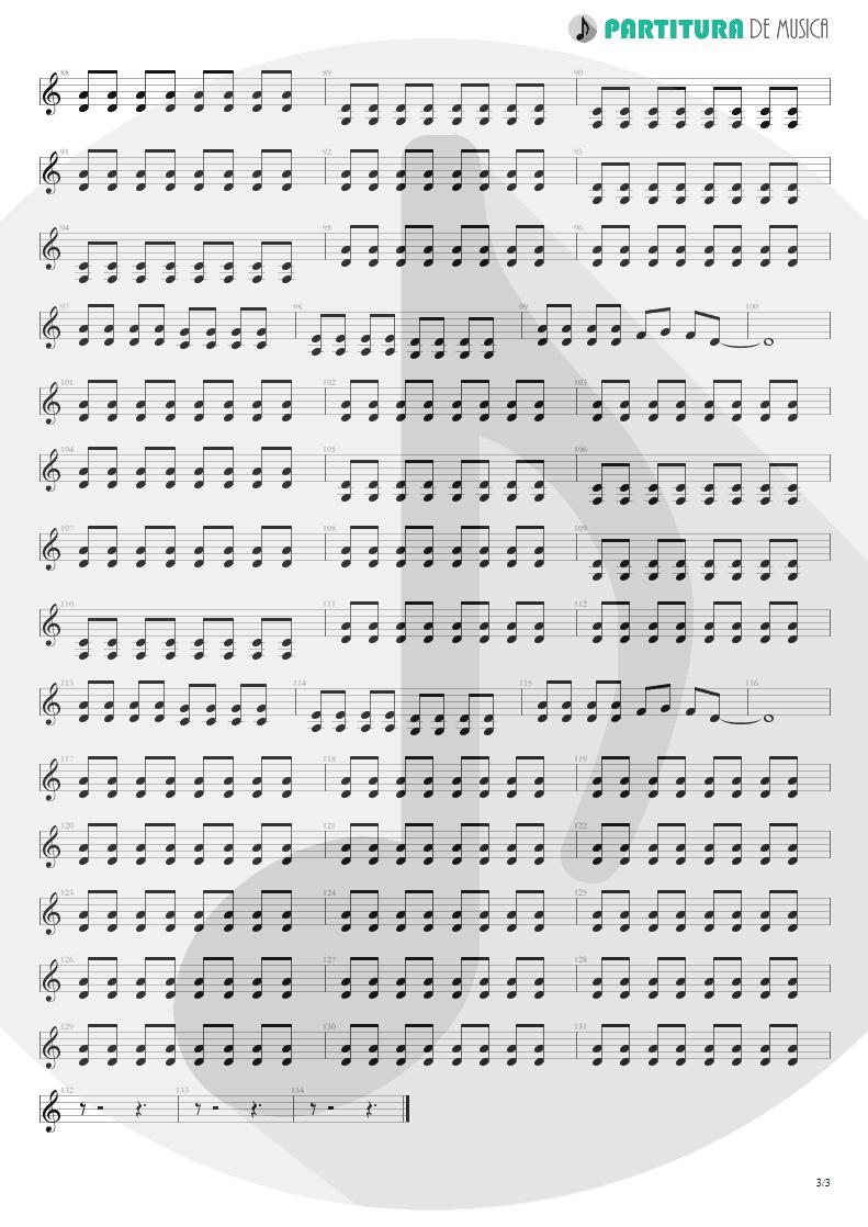 Partitura de musica de Guitarra Elétrica - I Need You Tonight | ZZ Top | Eliminator 1983 - pag 3