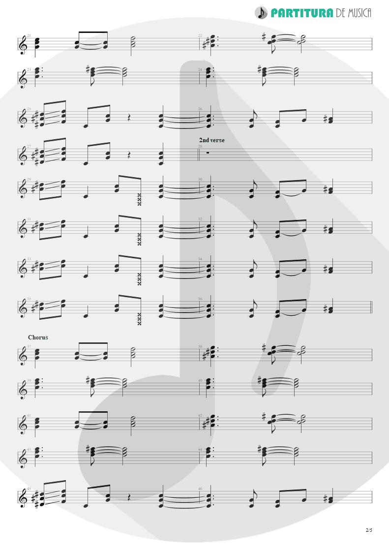Partitura de musica de Guitarra Elétrica - Doubleback | ZZ Top | Recycler 1990 - pag 2