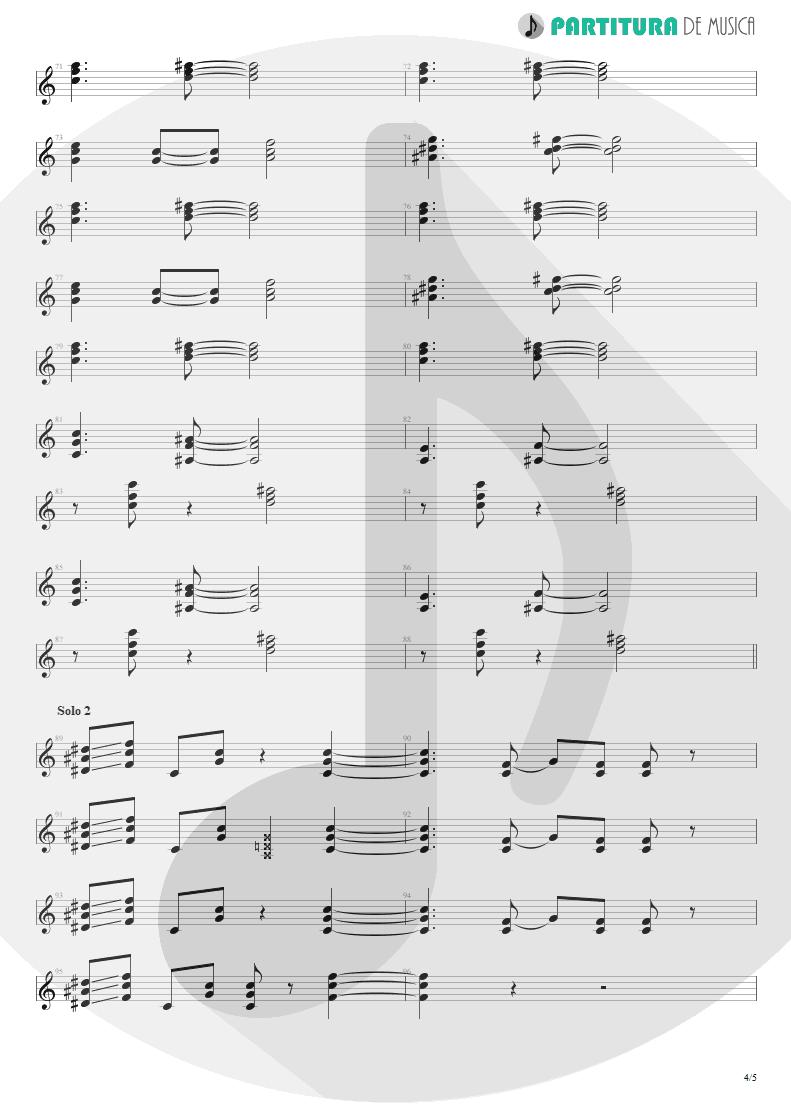 Partitura de musica de Guitarra Elétrica - Doubleback | ZZ Top | Recycler 1990 - pag 4